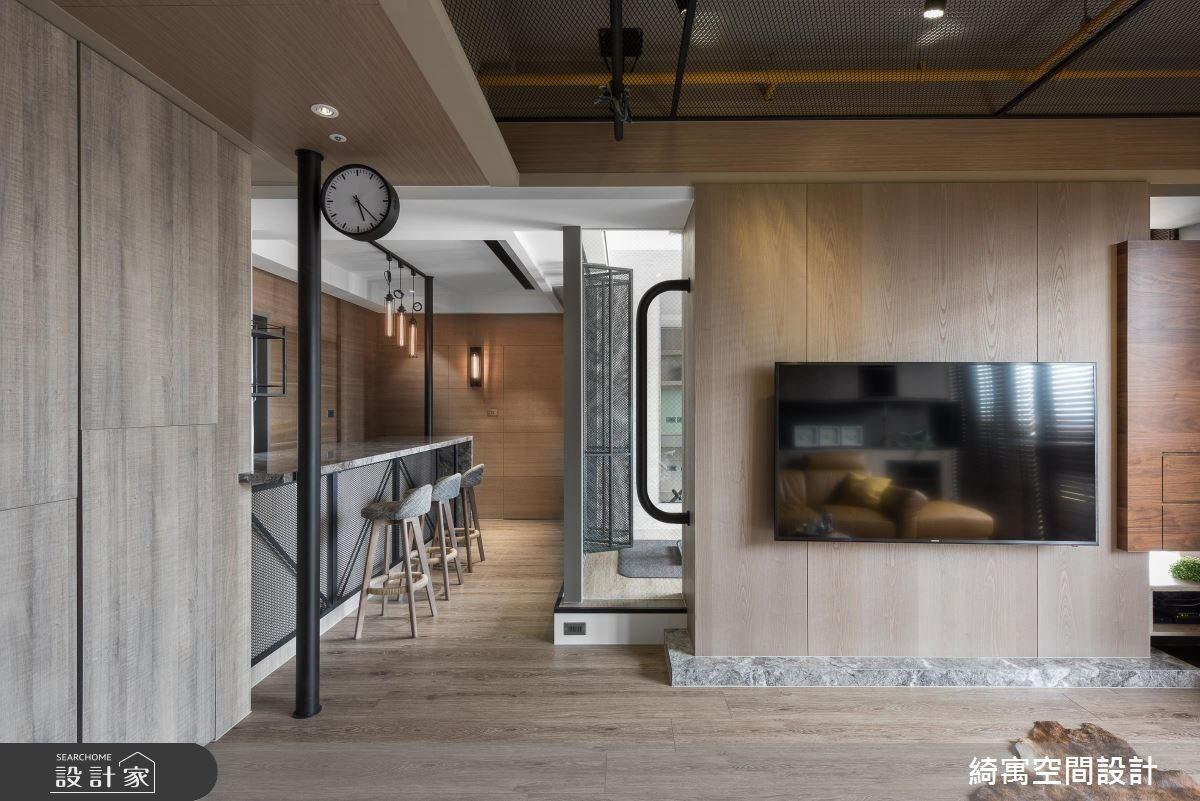 23坪新成屋(5年以下)_工業風客廳案例圖片_綺寓空間設計_綺寓_23之5
