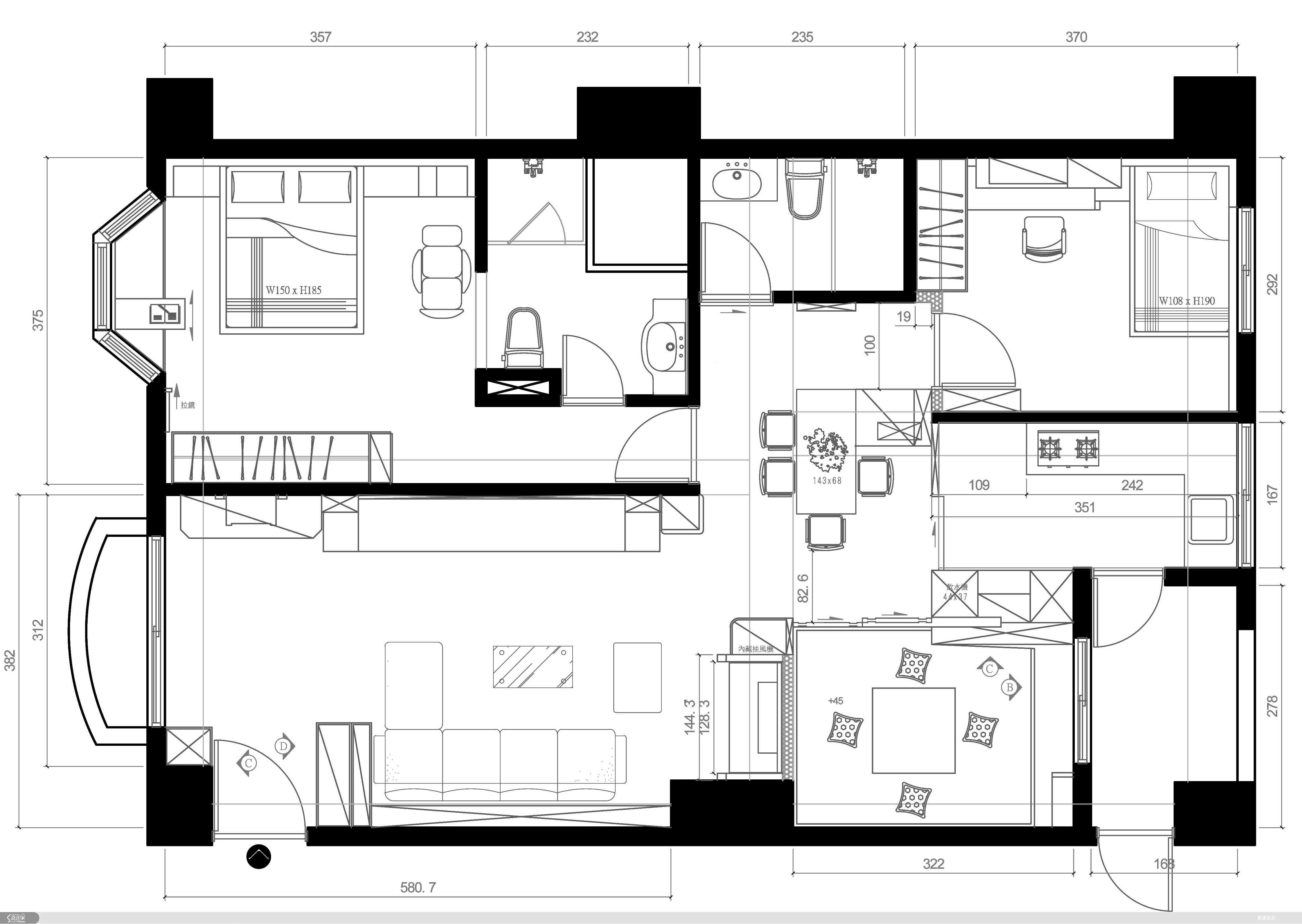 32坪新成屋(5年以下)_休閒風案例圖片_景漾建築空間設計_景漾_03之23