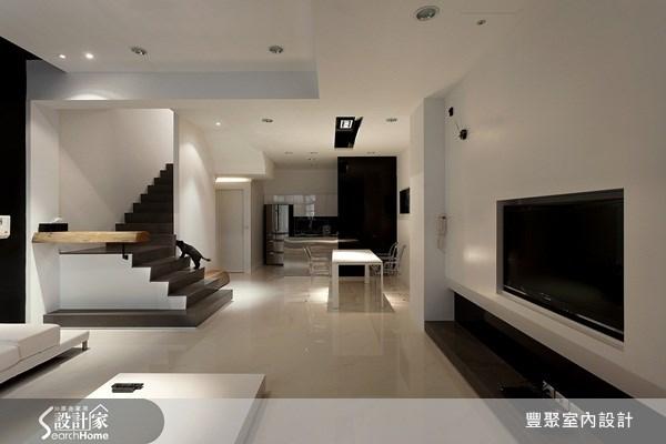 70坪新成屋(5年以下)_簡約風客廳案例圖片_豐聚室內設計_豐聚_02之7