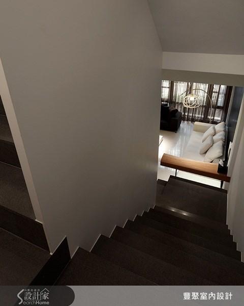 70坪新成屋(5年以下)_簡約風樓梯案例圖片_豐聚室內設計_豐聚_02之12