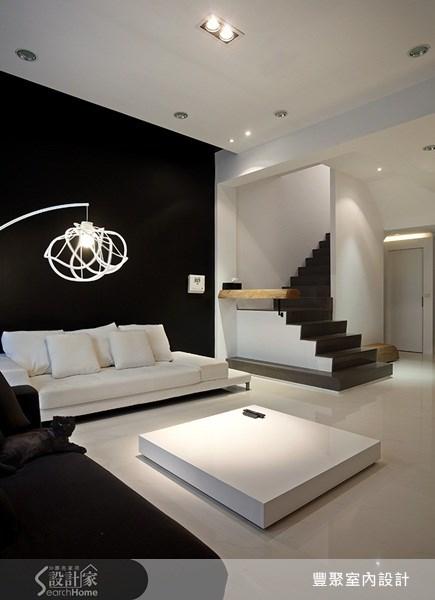 70坪新成屋(5年以下)_簡約風客廳案例圖片_豐聚室內設計_豐聚_02之4