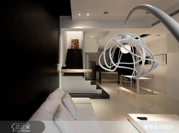 70坪新成屋(5年以下)_簡約風客廳案例圖片_豐聚室內設計_豐聚_02之6
