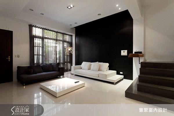 70坪新成屋(5年以下)_簡約風客廳案例圖片_豐聚室內設計_豐聚_02之2