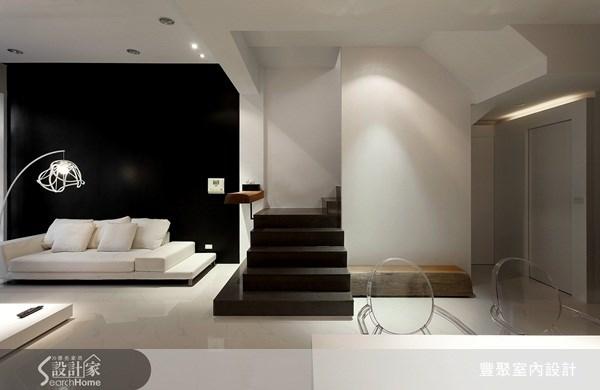70坪新成屋(5年以下)_簡約風客廳案例圖片_豐聚室內設計_豐聚_02之11