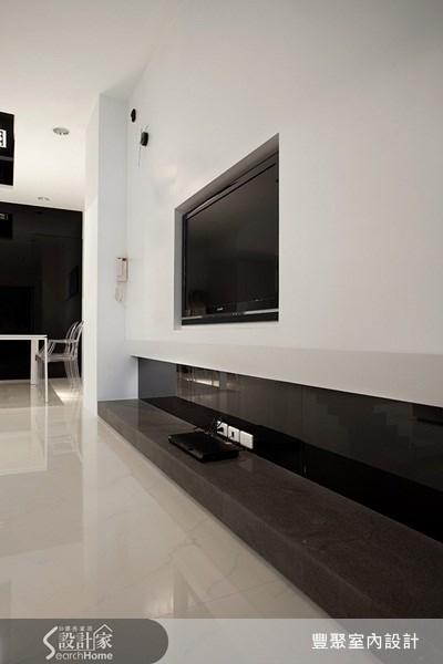70坪新成屋(5年以下)_簡約風客廳案例圖片_豐聚室內設計_豐聚_02之5