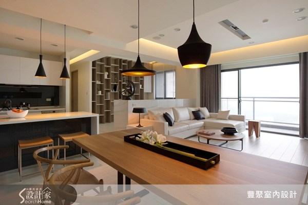 40坪預售屋_現代風客廳餐廳廚房書房案例圖片_豐聚室內設計_豐聚_07之2