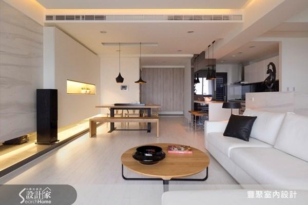 40坪預售屋_現代風玄關客廳餐廳廚房案例圖片_豐聚室內設計_豐聚_07之6