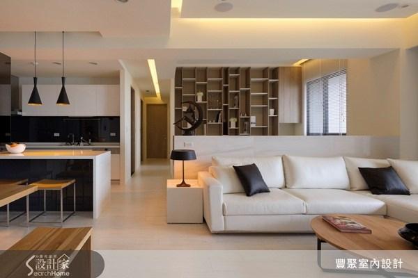 40坪預售屋_現代風客廳餐廳廚房書房案例圖片_豐聚室內設計_豐聚_07之5