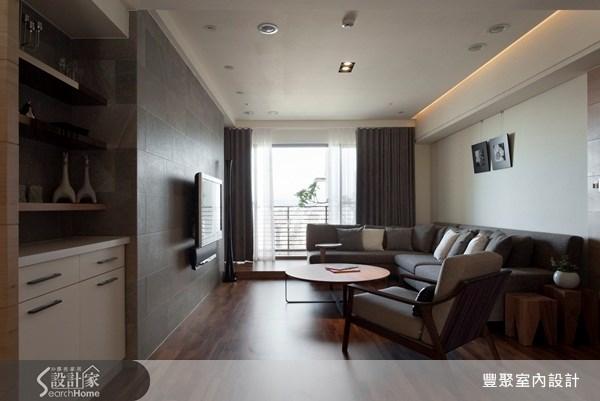 42坪中古屋(5~15年)_休閒風玄關客廳案例圖片_豐聚室內設計_豐聚_09之2