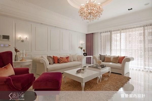 47坪新成屋(5年以下)_新古典客廳案例圖片_豐聚室內設計_豐聚_12之3