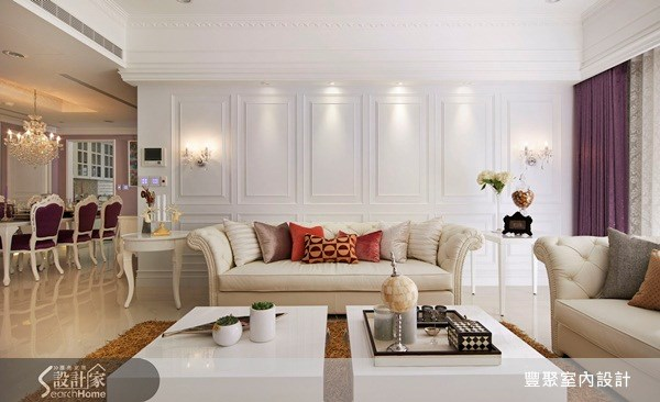 47坪新成屋(5年以下)_新古典客廳餐廳案例圖片_豐聚室內設計_豐聚_12之4