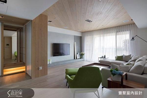 54坪新成屋(5年以下)_現代風玄關客廳案例圖片_豐聚室內設計_豐聚_14之2