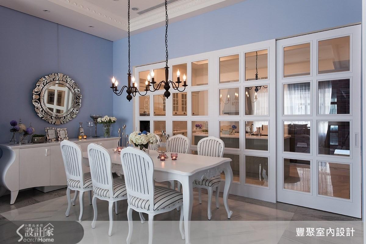 90坪新成屋(5年以下)_新古典餐廳案例圖片_豐聚室內設計_豐聚_15之8