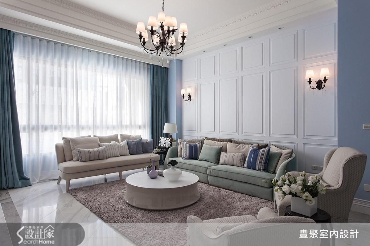 90坪新成屋(5年以下)_新古典客廳案例圖片_豐聚室內設計_豐聚_15之3