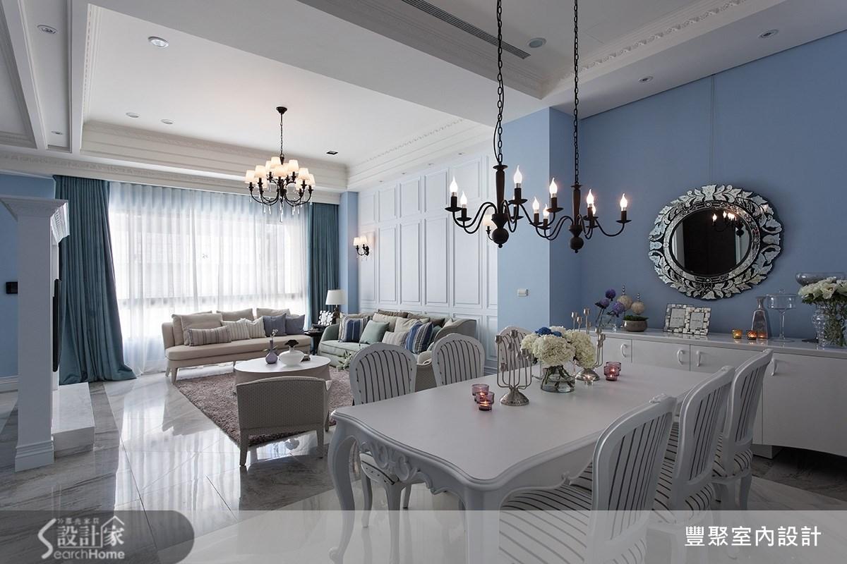 90坪新成屋(5年以下)_新古典餐廳案例圖片_豐聚室內設計_豐聚_15之7