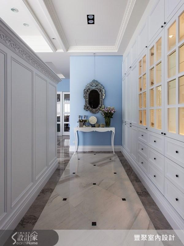 90坪新成屋(5年以下)_新古典走廊案例圖片_豐聚室內設計_豐聚_15之1