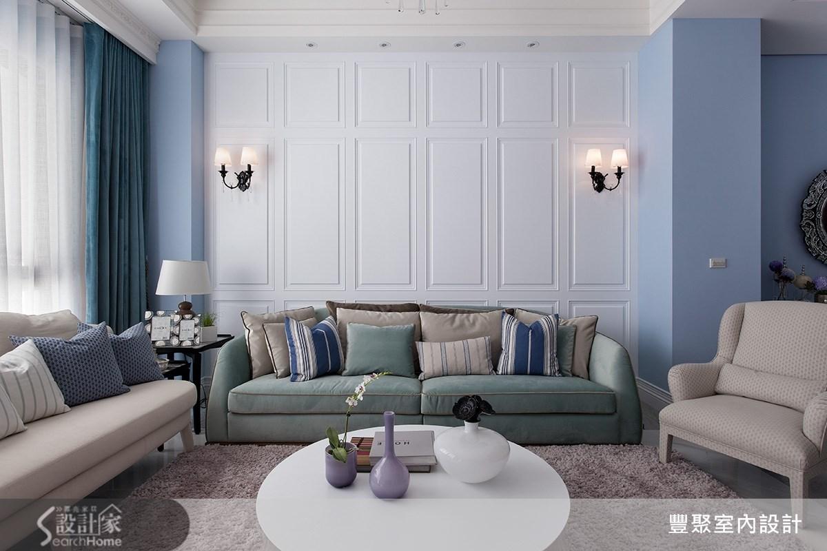 90坪新成屋(5年以下)_新古典客廳案例圖片_豐聚室內設計_豐聚_15之4