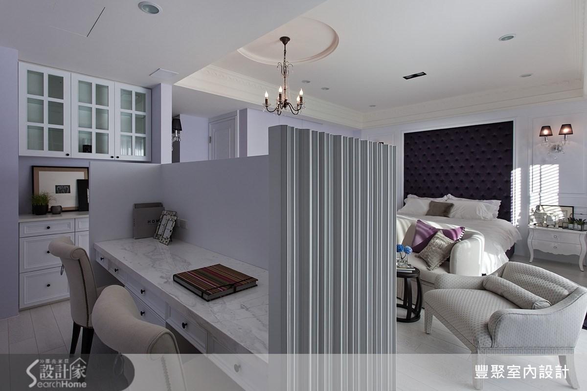 90坪新成屋(5年以下)_新古典臥室案例圖片_豐聚室內設計_豐聚_15之12