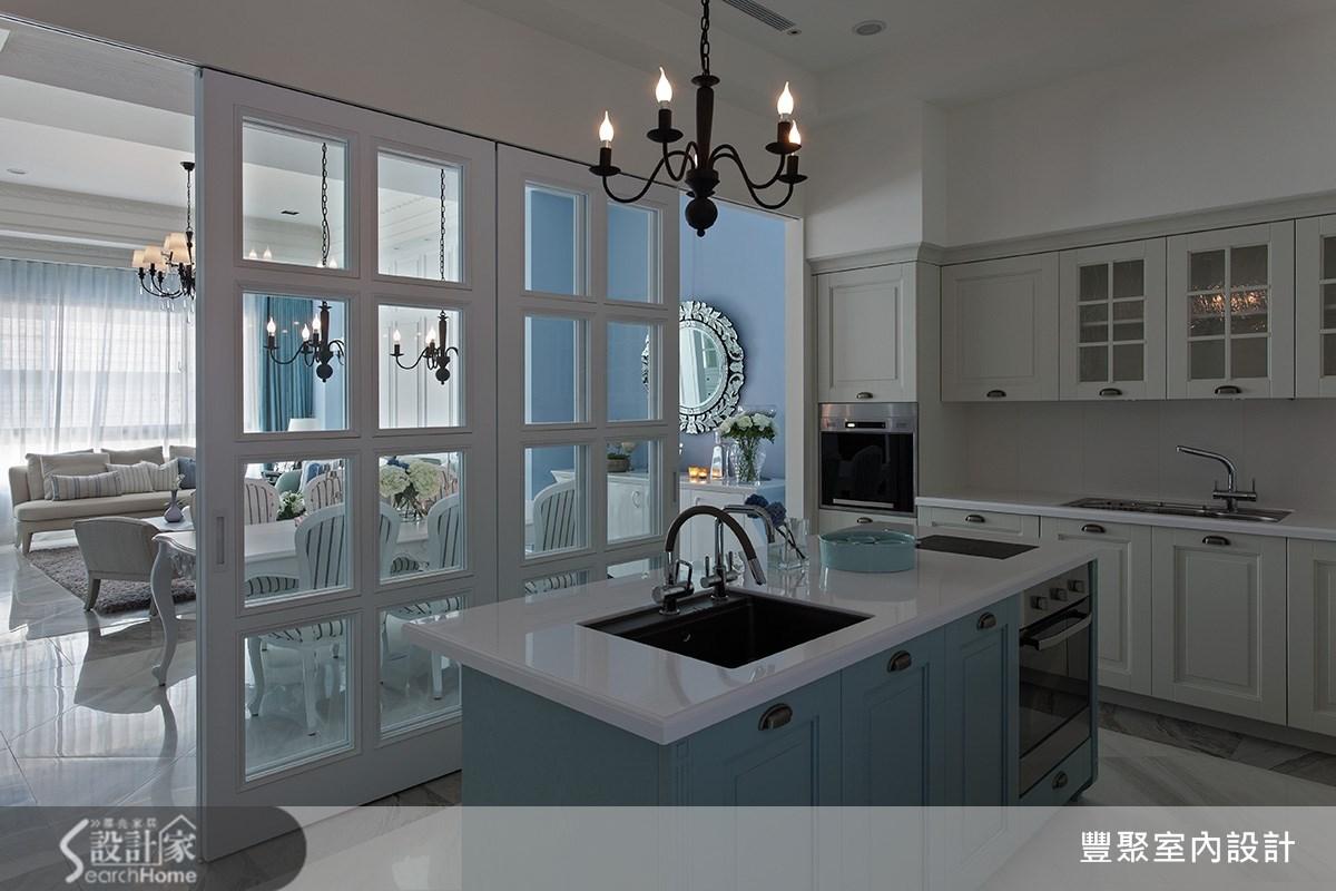 90坪新成屋(5年以下)_新古典廚房案例圖片_豐聚室內設計_豐聚_15之9
