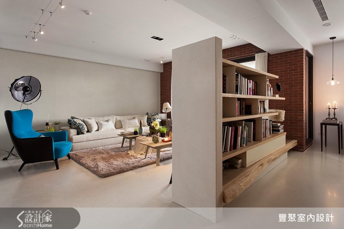 50坪新成屋(5年以下)_現代風客廳案例圖片_豐聚室內設計_豐聚_16之5