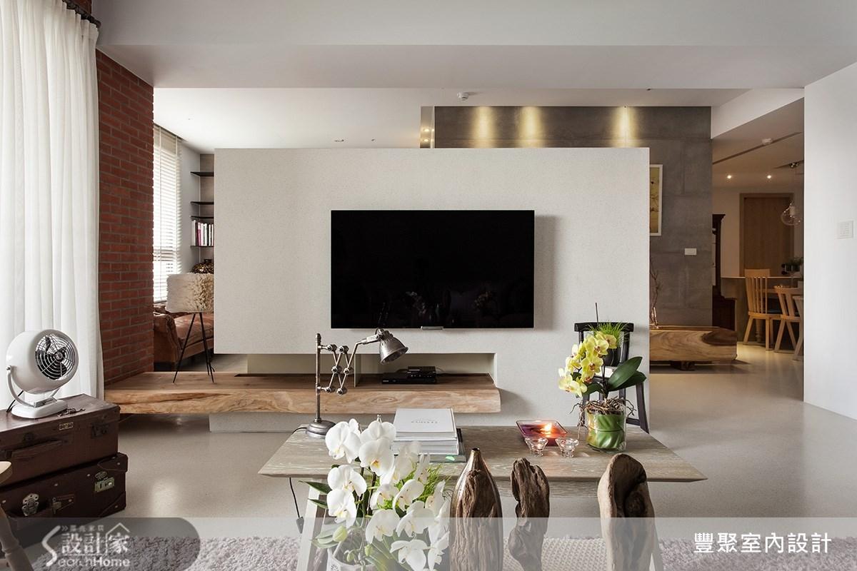 50坪新成屋(5年以下)_現代風客廳案例圖片_豐聚室內設計_豐聚_16之3