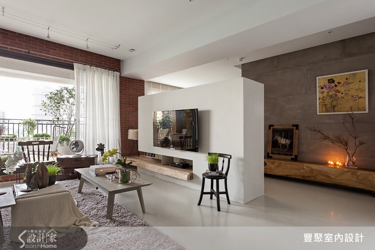 50坪新成屋(5年以下)_現代風客廳案例圖片_豐聚室內設計_豐聚_16之4