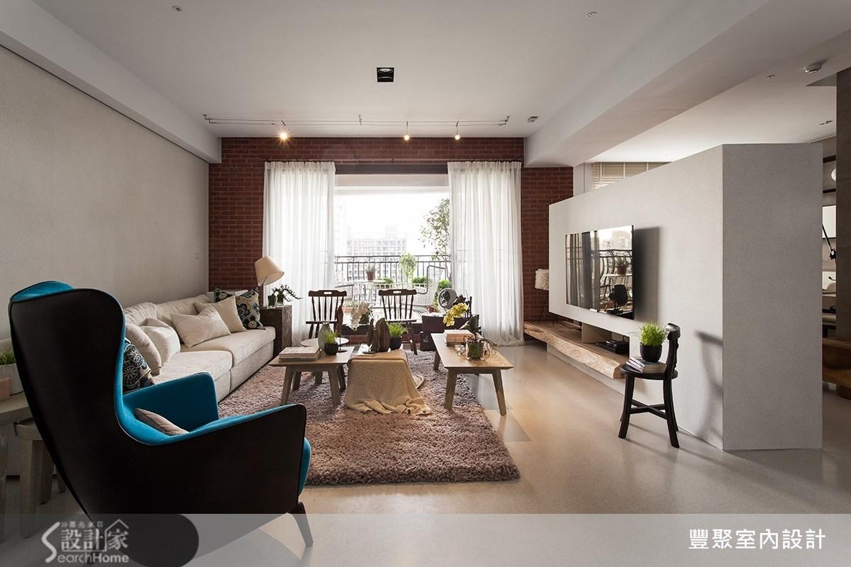 50坪新成屋(5年以下)_現代風客廳案例圖片_豐聚室內設計_豐聚_16之1