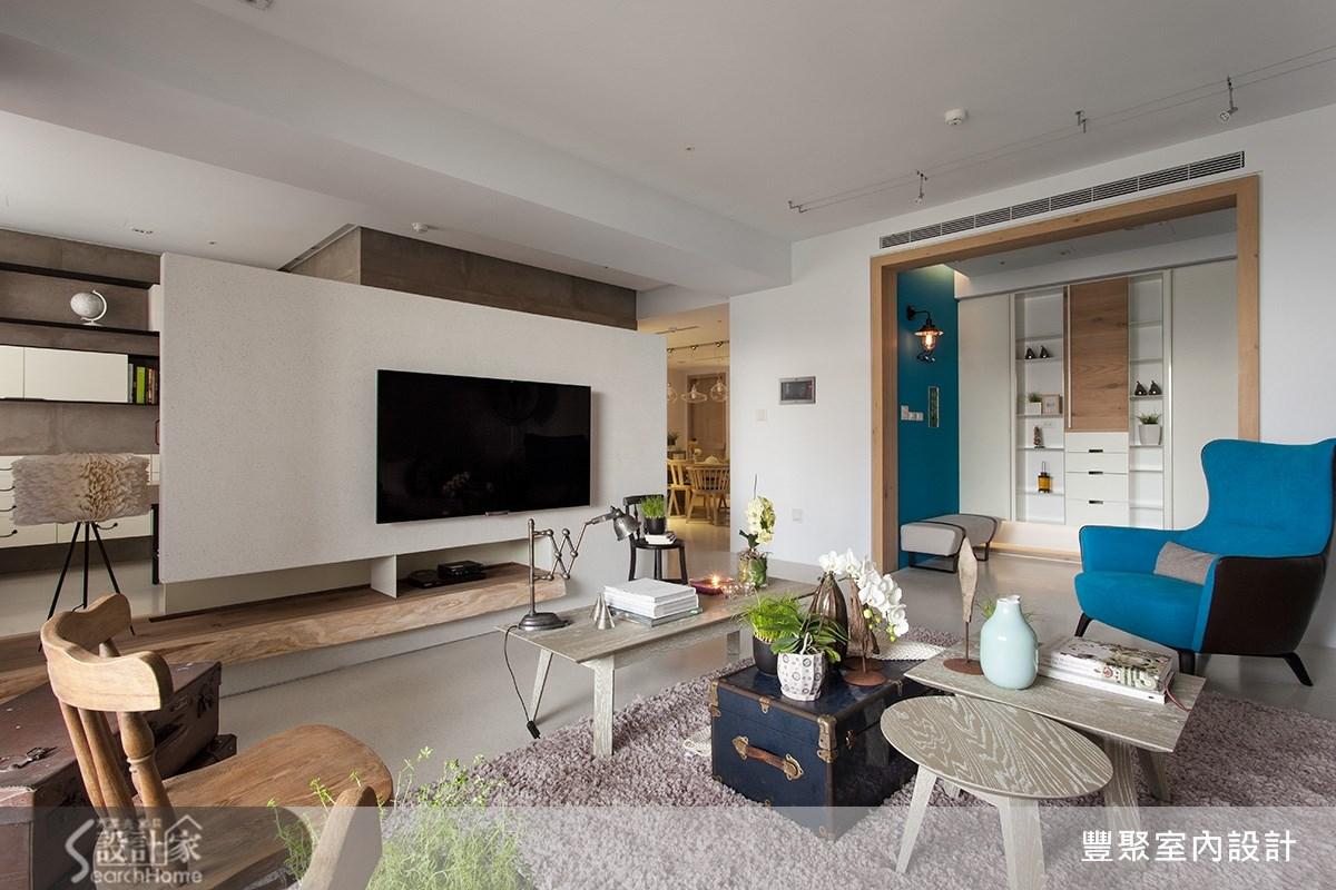 50坪新成屋(5年以下)_現代風客廳案例圖片_豐聚室內設計_豐聚_16之2