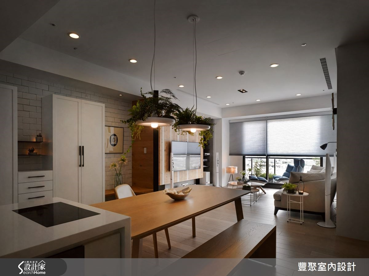 23坪新成屋(5年以下)_北歐風餐廳案例圖片_豐聚室內設計_豐聚_18之4