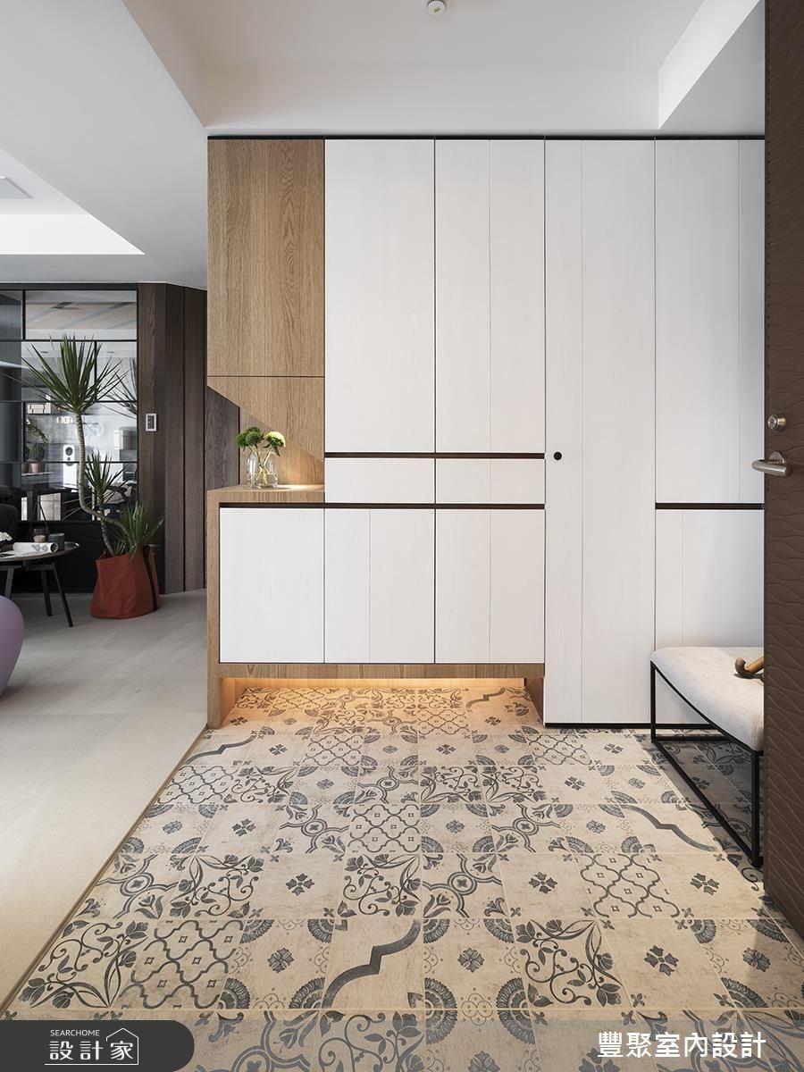 60坪新成屋(5年以下)_現代風玄關案例圖片_豐聚室內設計_豐聚_23之1