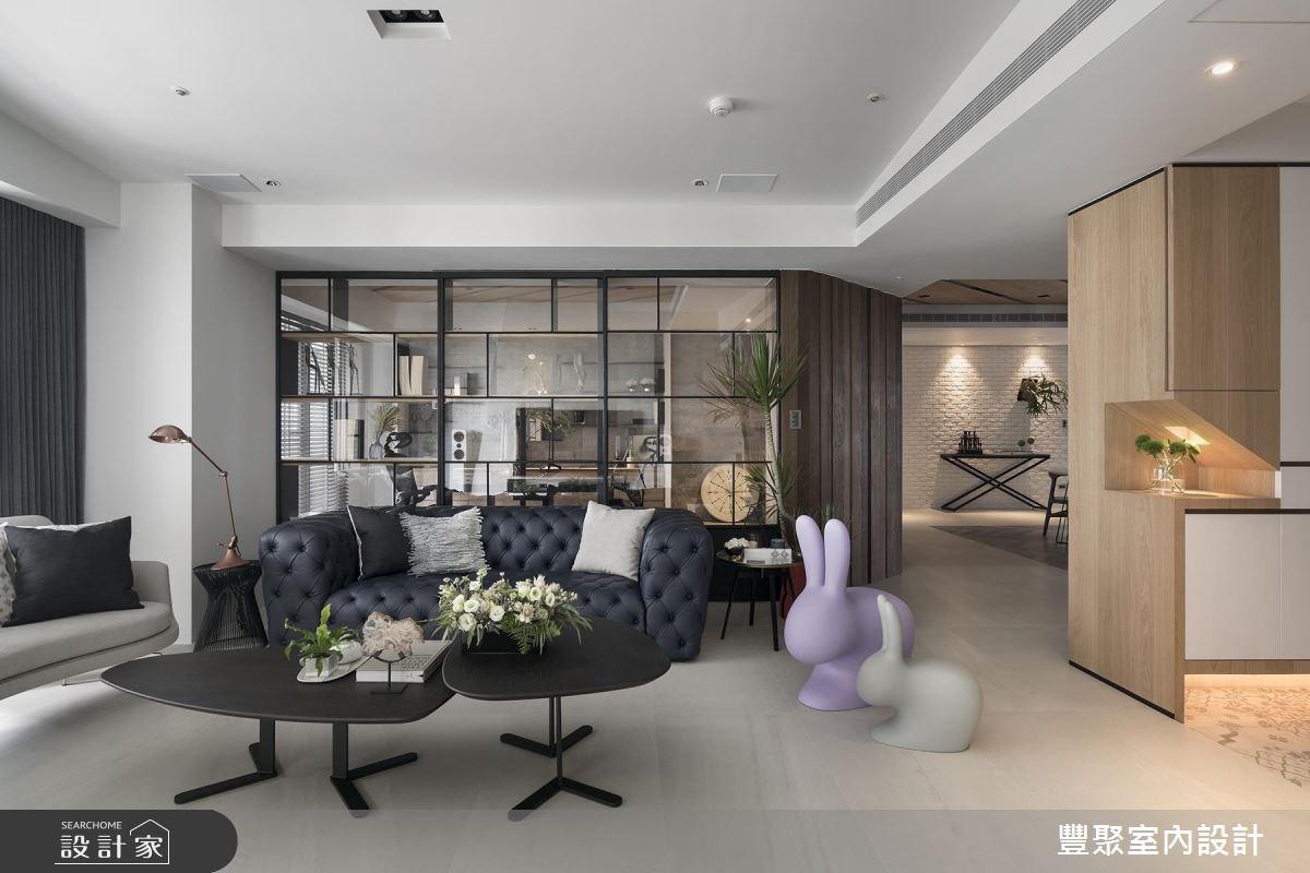 60坪新成屋(5年以下)_現代風客廳書房案例圖片_豐聚室內設計_豐聚_23之3