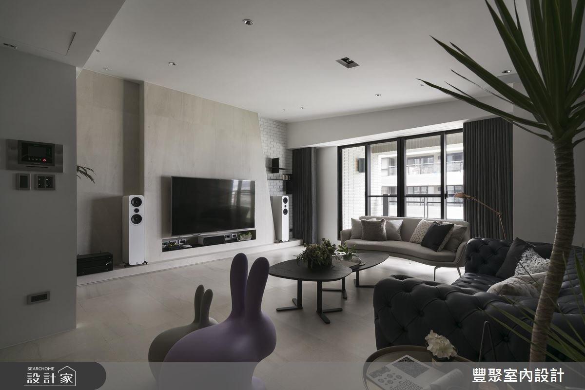 60坪新成屋(5年以下)_現代風客廳案例圖片_豐聚室內設計_豐聚_23之4