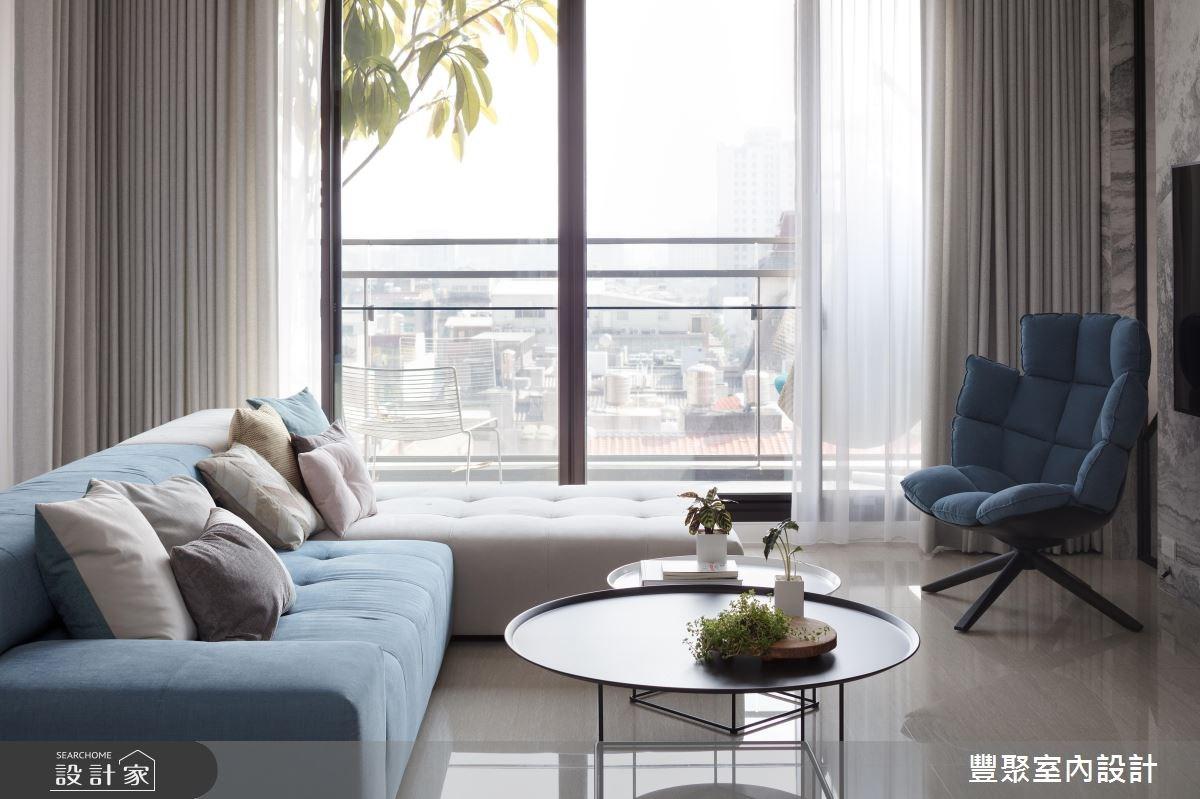 40坪新成屋(5年以下)_現代風客廳案例圖片_豐聚室內設計_豐聚_24之2