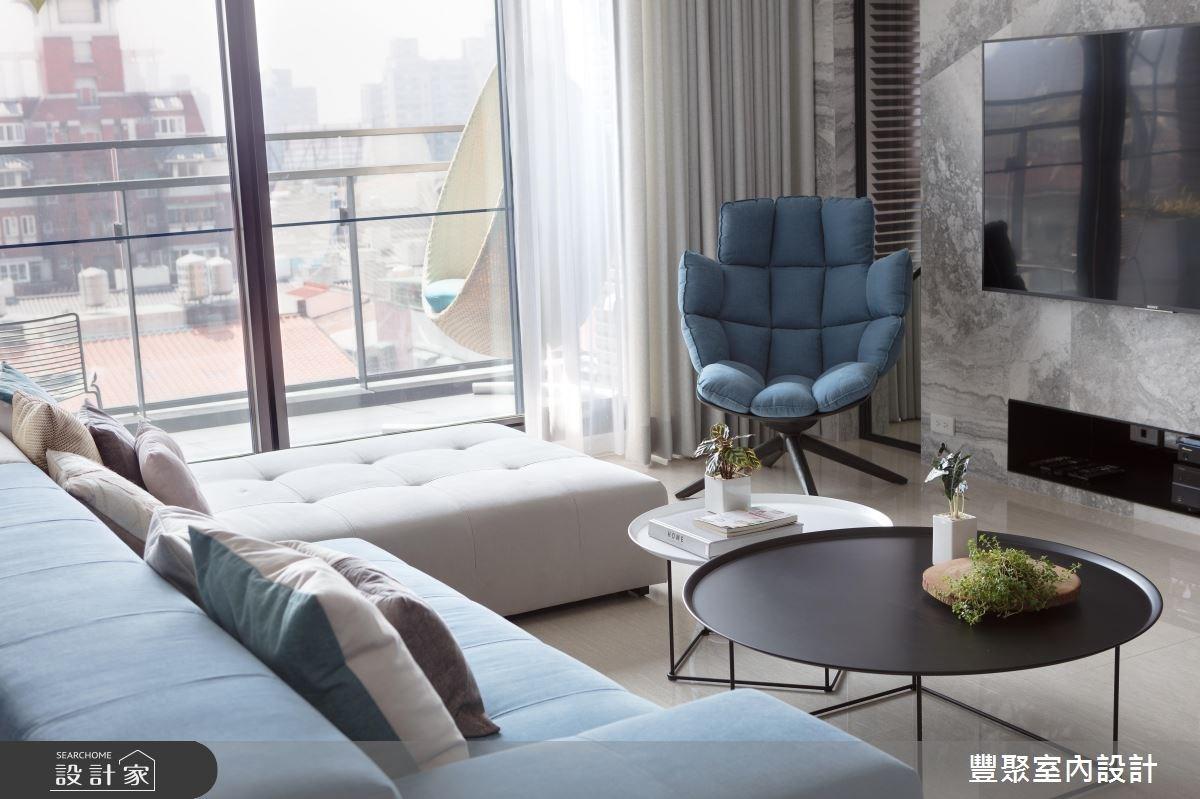 40坪新成屋(5年以下)_現代風客廳案例圖片_豐聚室內設計_豐聚_24之4
