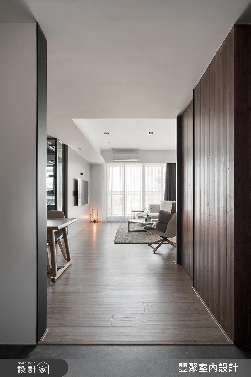 30坪新成屋(5年以下)_現代風玄關客廳案例圖片_豐聚室內設計_豐聚_25之2