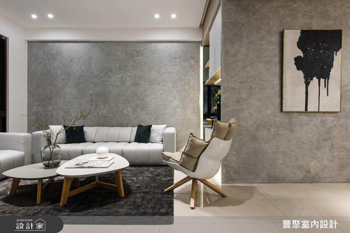 134坪新成屋(5年以下)_混搭風客廳案例圖片_豐聚室內設計_豐聚_27之1
