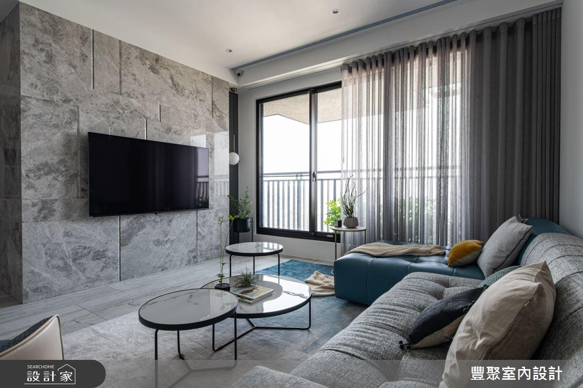 38坪新成屋(5年以下)_現代風客廳案例圖片_豐聚室內設計_豐聚_28之1