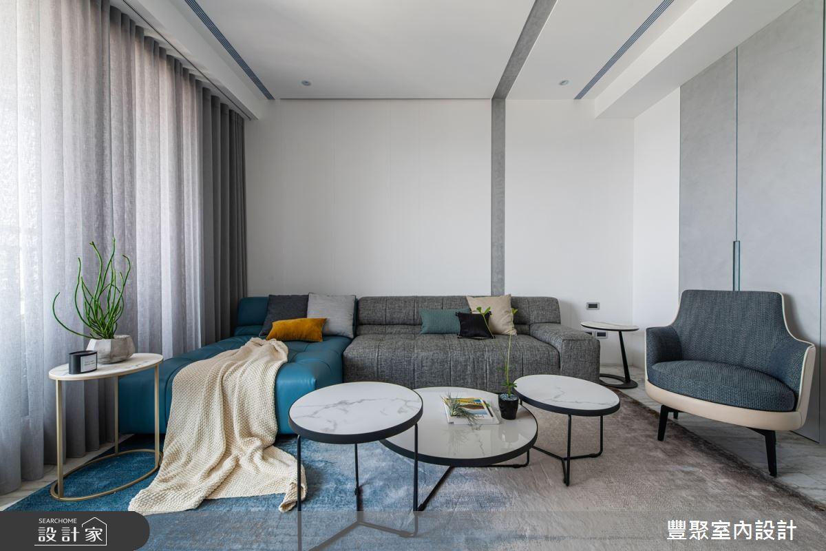 38坪新成屋(5年以下)_現代風客廳案例圖片_豐聚室內設計_豐聚_28之2