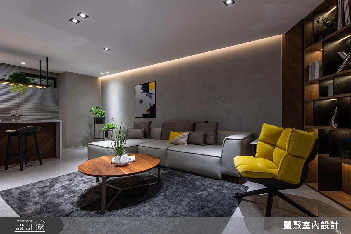 85坪新成屋(5年以下)_現代風客廳案例圖片_豐聚室內設計_豐聚_29之2