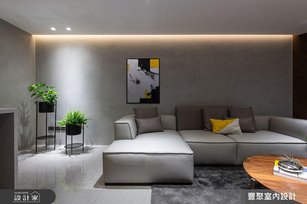 85坪新成屋(5年以下)_現代風客廳案例圖片_豐聚室內設計_豐聚_29之3