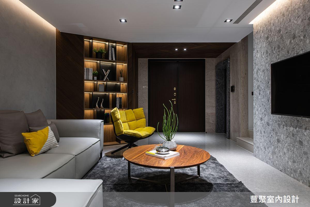 85坪新成屋(5年以下)_現代風客廳案例圖片_豐聚室內設計_豐聚_29之4