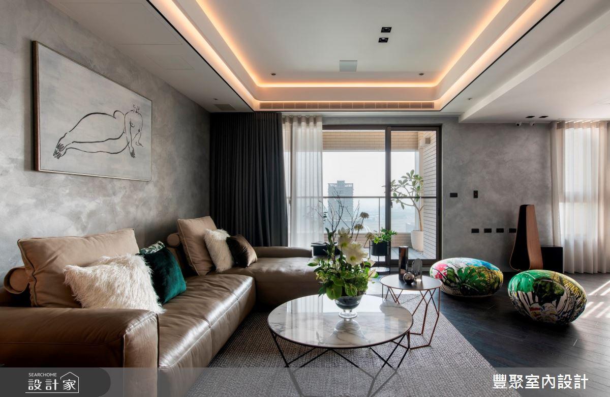 100坪新成屋(5年以下)_現代風客廳案例圖片_豐聚室內設計_豐聚_30之4