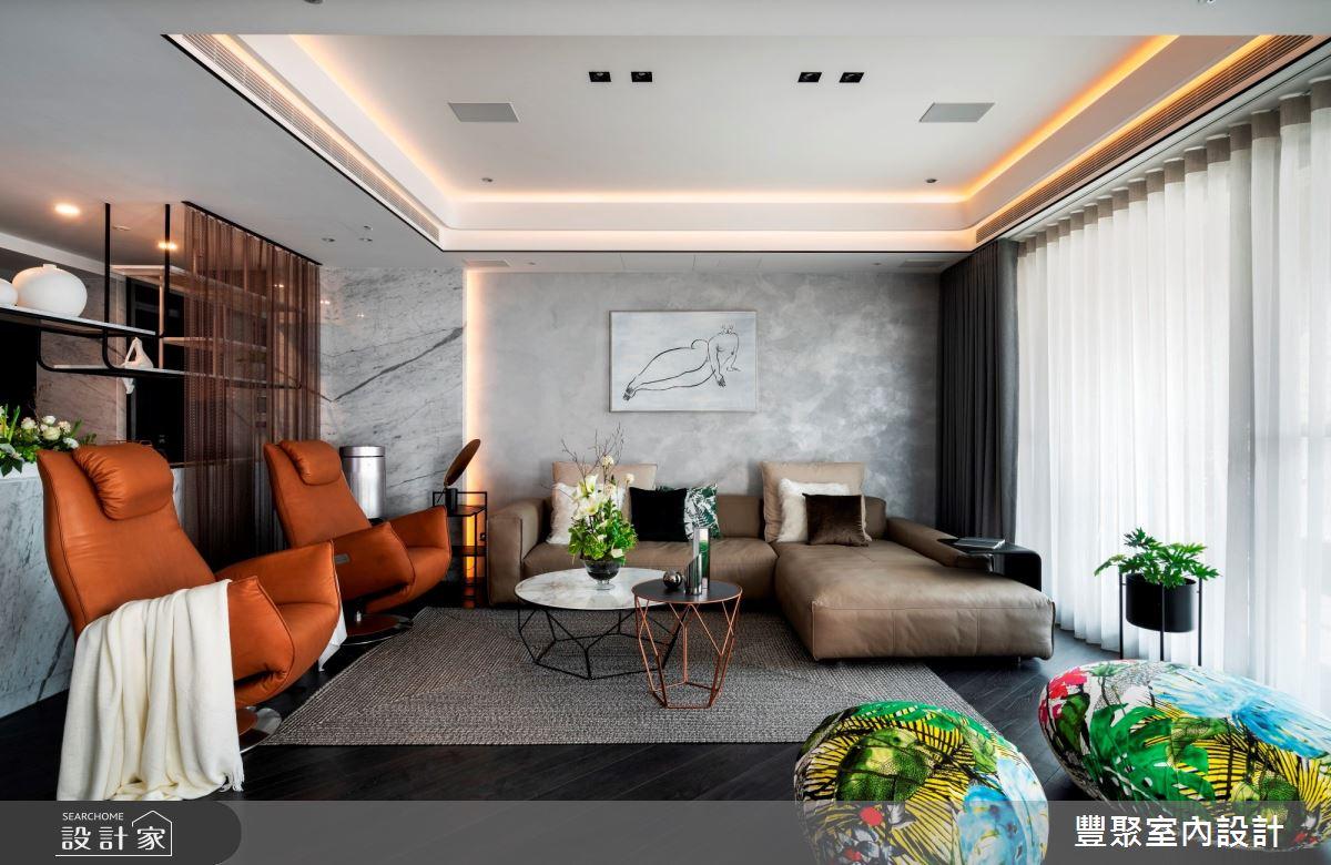 100坪新成屋(5年以下)_現代風客廳案例圖片_豐聚室內設計_豐聚_30之3