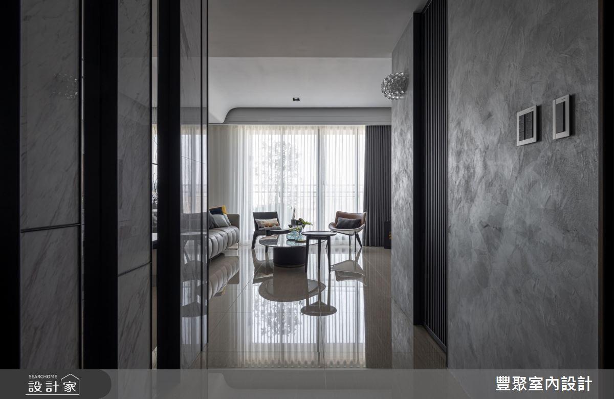 40坪新成屋(5年以下)_現代風玄關客廳案例圖片_豐聚室內設計_豐聚_31之1