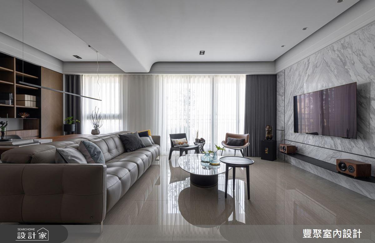 40坪新成屋(5年以下)_現代風客廳案例圖片_豐聚室內設計_豐聚_31之3