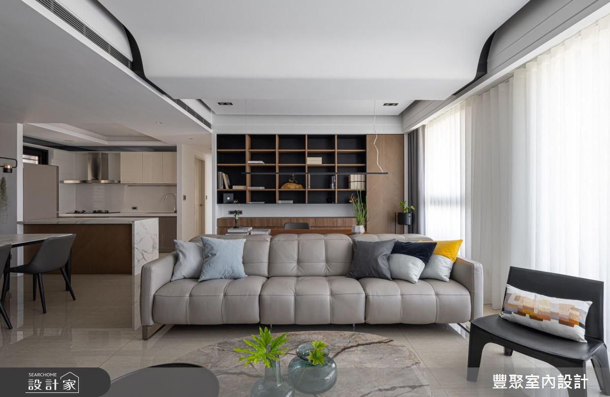 40坪新成屋(5年以下)_現代風客廳案例圖片_豐聚室內設計_豐聚_31之4