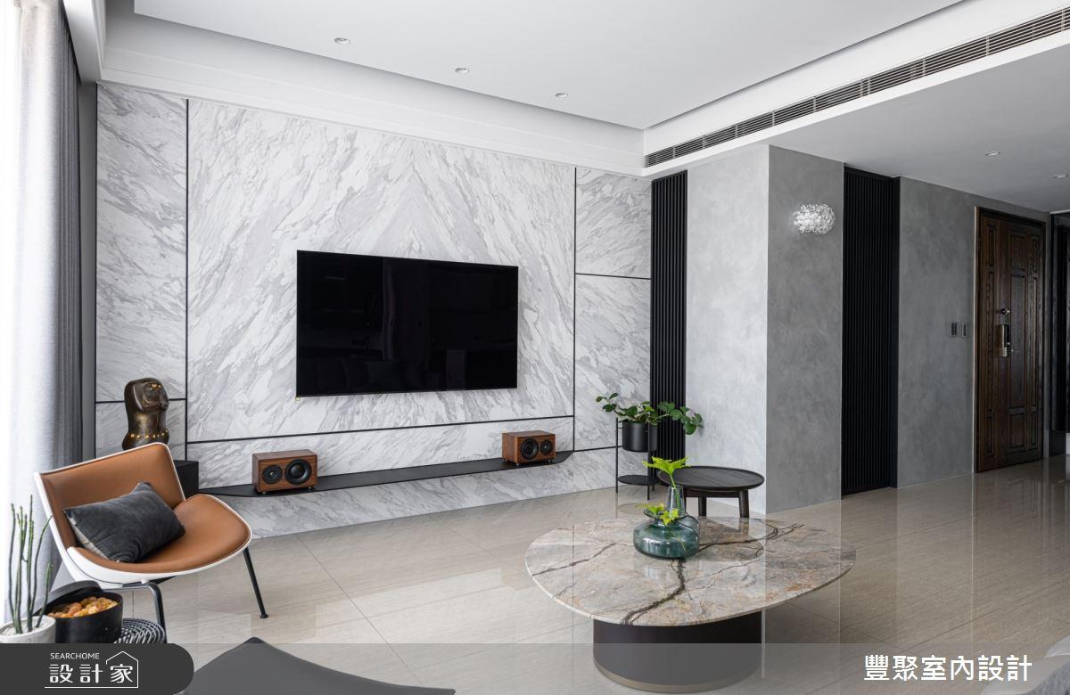 40坪新成屋(5年以下)_現代風客廳案例圖片_豐聚室內設計_豐聚_31之6