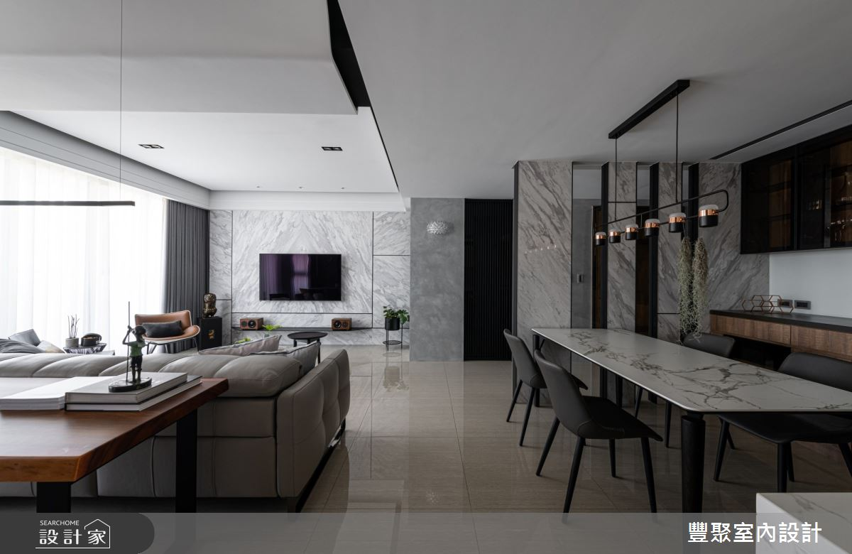 40坪新成屋(5年以下)_現代風餐廳案例圖片_豐聚室內設計_豐聚_31之9