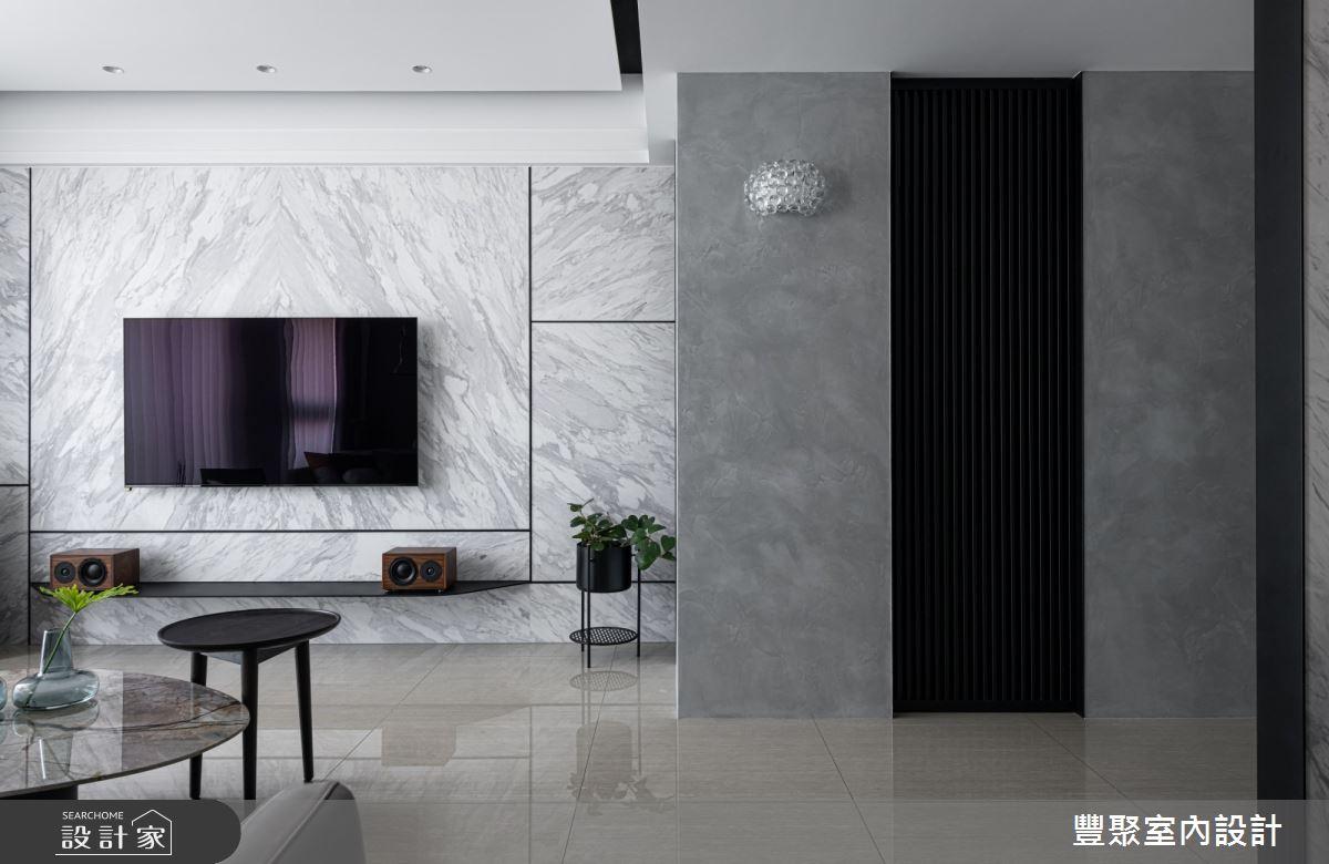40坪新成屋(5年以下)_現代風客廳案例圖片_豐聚室內設計_豐聚_31之5