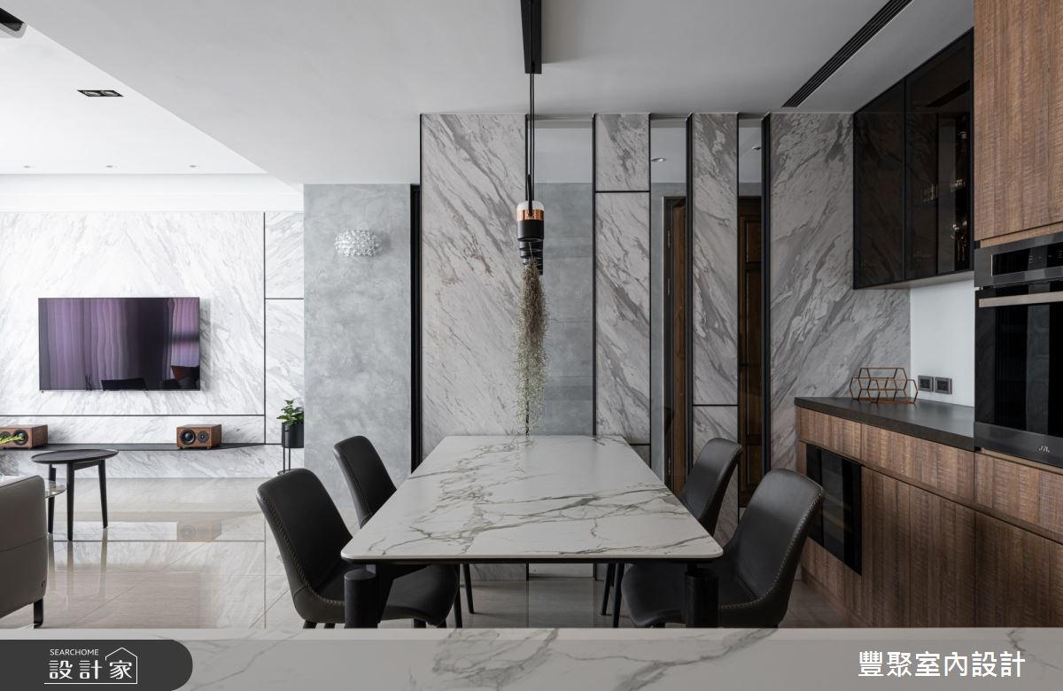 40坪新成屋(5年以下)_現代風餐廳案例圖片_豐聚室內設計_豐聚_31之10